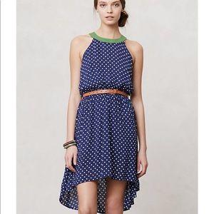Anthropologie Lilka Lark high los polka dot dress